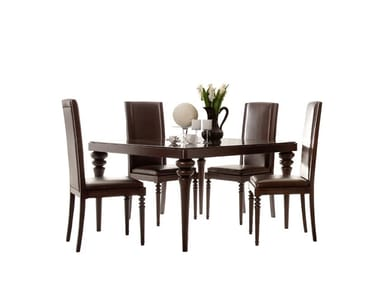 Extending rectangular ash table FASHION TIME   Dining table