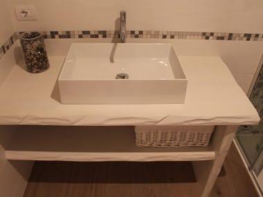 Sectional wooden vanity unit Vanity unit