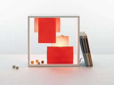 Plate wall lamp / table lamp FATO BICOLOR