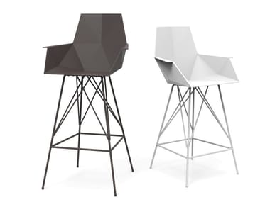 Polypropylene garden chair with armrests FAZ | Chair with armrests