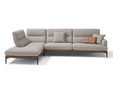 Divano in tessuto a 3 posti con chaise longue FENG | Divano in tessuto