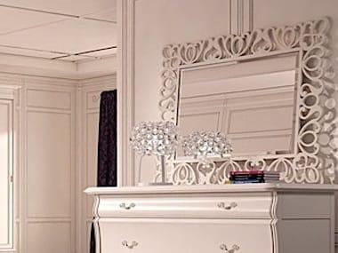 Wall-mounted framed mirror FENICE | Rectangular mirror