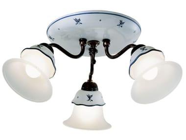 Ceramic ceiling lamp with fixed arm FERRARA | Ceiling lamp