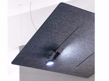 Fabric acoustic ceiling clouds with Integrated Lighting FIBER CEILING