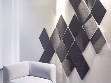 Fabric decorative acoustical panel FIBER STRUCTURE