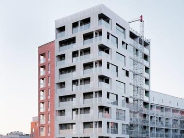 Outdoor fiber-reinforced concrete 3D Wall Cladding for facades fibreC 3D CAST