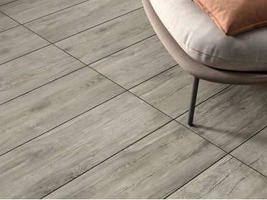 Pavimento in gres porcellanato effetto legno per interni ed esterni FIEMME GREY