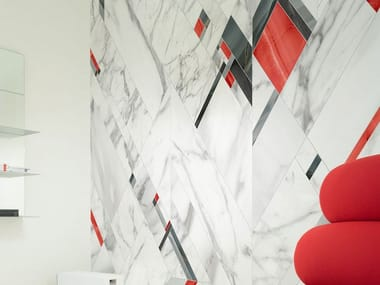 Nonwoven wallpaper with marble effect FIFTH AVENUE
