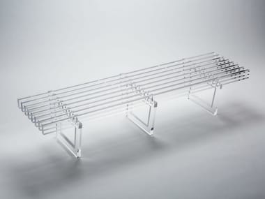 PMMA bench FIFTIE'S 1750