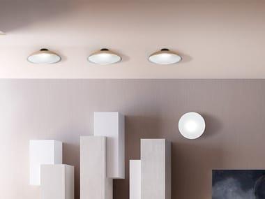 Plafoniera a LED in alluminio e vetro FIJI | Plafoniera