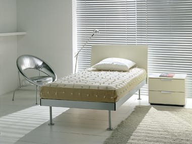Lacquered wooden single bed FILIPPO | Single bed