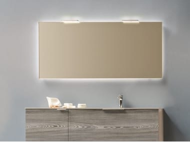 Wall-mounted bathroom mirror with integrated lighting FILO