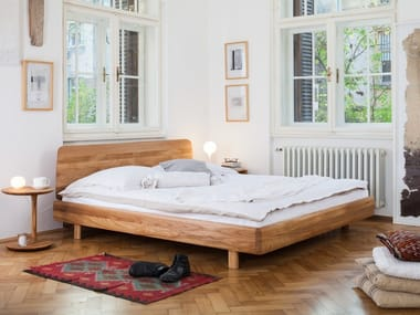 Solid wood double bed FIN | Bed