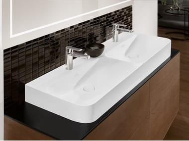 Double TitanCeram washbasin FINION   Double washbasin