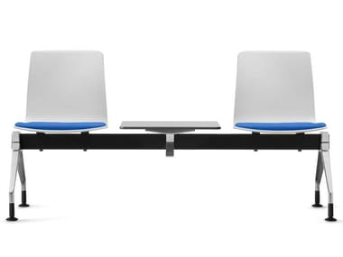 Bench system with MicroSilver plastic shells FIORE MICROSILVER | Beam seating