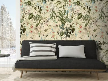 Washable wallpaper with floral pattern FIORI TROPICALI