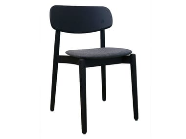 Wooden chair with integrated cushion FIZZ   Chair with integrated cushion