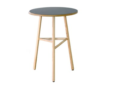 Round wooden high table FIZZ   High table