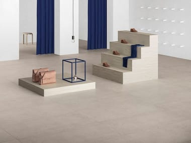 Porcelain stoneware wall/floor tiles with stone effect FJORD SAND