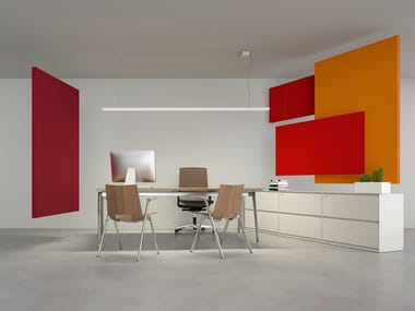 Sound-absorbing ceiling panel FLAG | Hanging acoustic panel