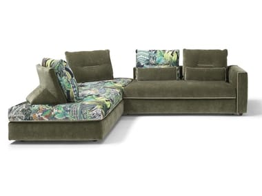 Sectional fabric sofa bed FLAM
