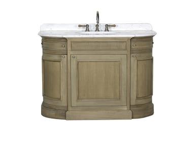 Single oak vanity unit with doors FLAMANT BUTLER   Single vanity unit