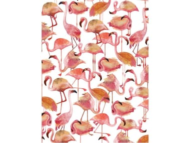 Motif Digital printing wallpaper FLAMINGO