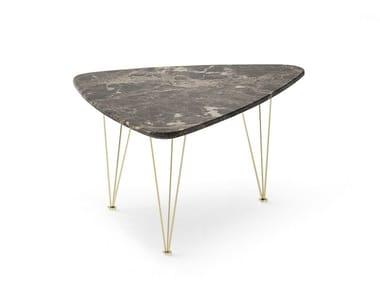Triangular marble coffee table FLAMINGO | Triangular coffee table