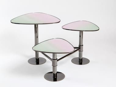 Side table FLANK | Glass coffee table