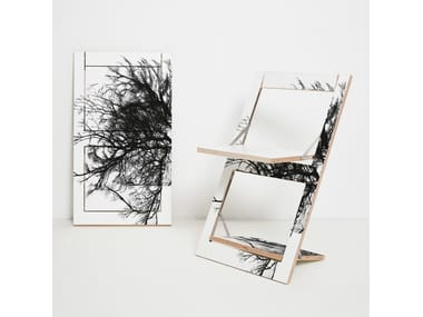 Folding plywood chair FLÄPPS FOLDING CHAIR - BAUM