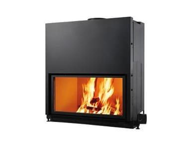 Wood-burning built-in fireplace FLAT 100