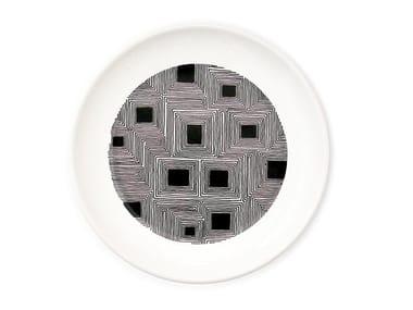 Ceramic dinner plate FLAT