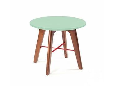 Mesa de centro redonda de madeira FLEX | Mesa de centro de madeira