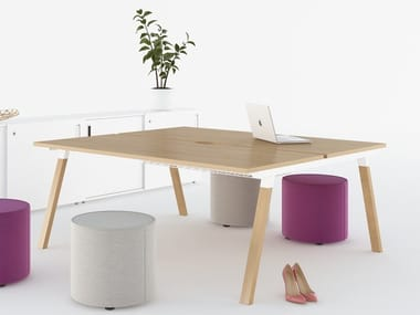 Rectangular meeting table with cable management FLEXIDO | Meeting table