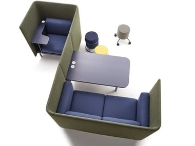 Acoustic fabric office workstation for open space FLOATER | Office workstation