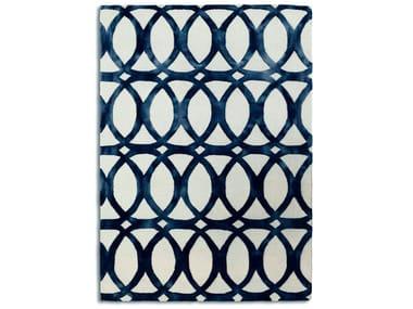 Tappeto rettangolare in lana a motivi geometrici FLOATING BLUE | Tappeto