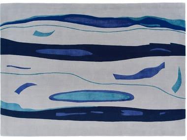 Handmade custom rug FLOATING GLASS