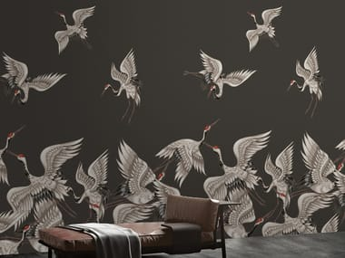 Motif vinyl wallpaper FLOCK