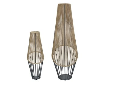 Synthetic fibre floor lamp LODZ | Floor lamp