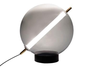 Lampada da terra a LED in vetro soffiato TERRAZZA MARTINI   Lampada da terra