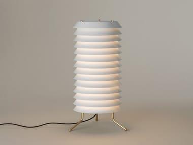 LED floor lamp with dimmer with metallic lampshade MAIJA | Floor lamp