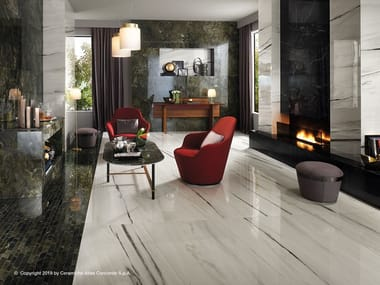 Porcelain stoneware flooring with marble effect MARVEL DREAM | Flooring