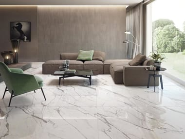 Ceramic flooring with marble effect PURITY OF MARBLE | Flooring with marble effect