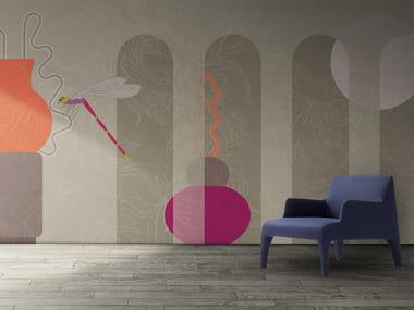 Papel de parede lavável panorâmico de vinil FLORA & FAUNA / ARCADIA