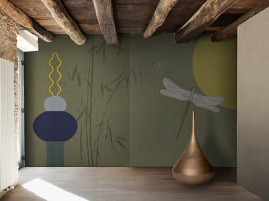 Papel de parede lavável panorâmico de vinil FLORA & FAUNA / LUNAS PLURES