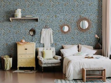 Papel de parede de tecido não tecido de flores FLORA