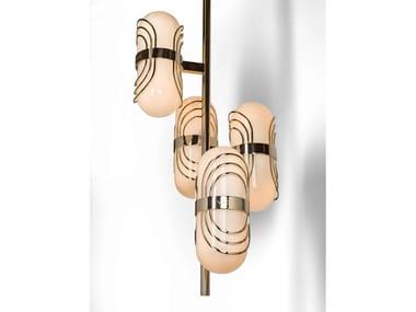 Direct light blown glass pendant lamp FLORO | Pendant lamp