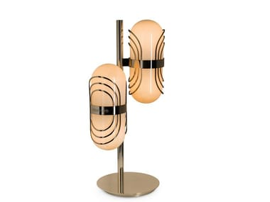 Direct light blown glass table lamp FLORO | Table lamp