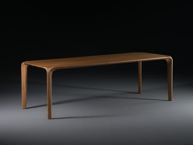 Rectangular solid wood dining table FLOW | Table