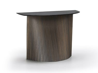 Demilune porcelain stoneware console table FLOW | Console table